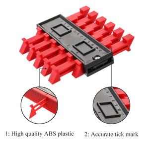 Image 2 - Çok fonksiyonlu kontur profili göstergesi döşeme laminat fayans kenar şekillendirme ahşap ölçü cetvel ABS kontur ölçer teksir 5/10 inç