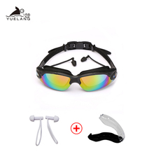 Adult Swimming Goggles Waterproof Glasses Earplugs Professional Silicone Swimming Caps Pool Anti-fog UV swimming goggles arena aryca 2 5 diopters silicone pc swimming goggles black