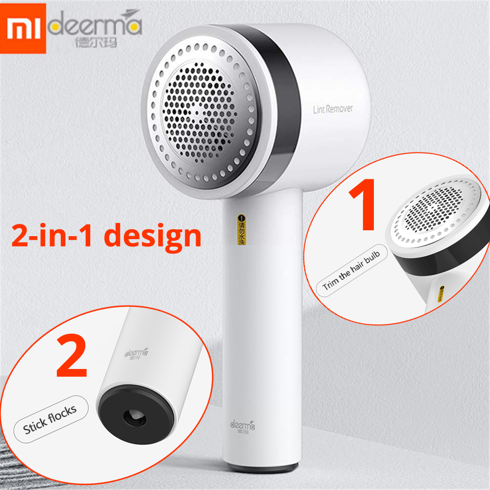 Xiaomi Deerma Portable Lint Remover Wireless Hair Ball Trimmer For Sweater Clothing 7000rmin Motor Fuzz Shavers 5
