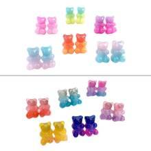 6 пар модных милых карамельных цветов мультяшных полимерных