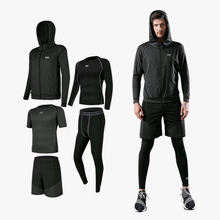 5pcs / set male workout gym fitness compression sports suit clothes running jogging sport wear exercise workout tights 3pcs set men s gym workout sports suit fitness compression clothes running jogging sport wear exercise workout tights