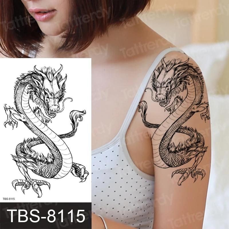 Mit drachen tattoo frau 51 Möglichkeiten,