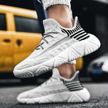 Men Casual Shoes Fashion Mens Sneakers Breathable Flying Weaving Mesh Lightweight Lace-up Shoe Outdoor Tenis Masculino Adulto