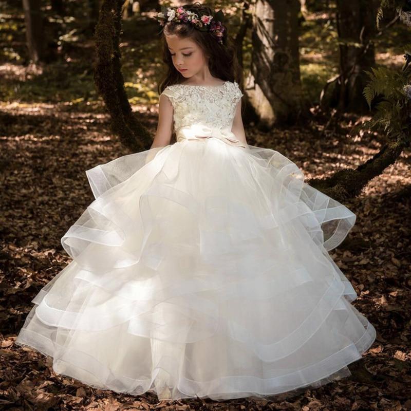 Vestidos elegantes para meninas, vestidos de flores