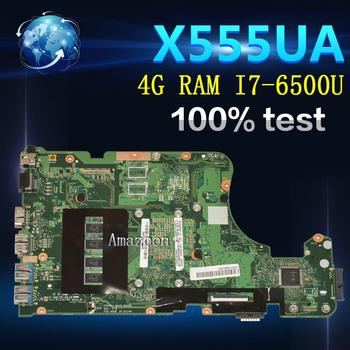 Материнская плата для ноутбука Amazoon X555UA для For Asus X555UJ X555UF F555U X555UB X555UQ X555U 100% протестированная оригинальная материнская плата 4G RAM I7 6500U
