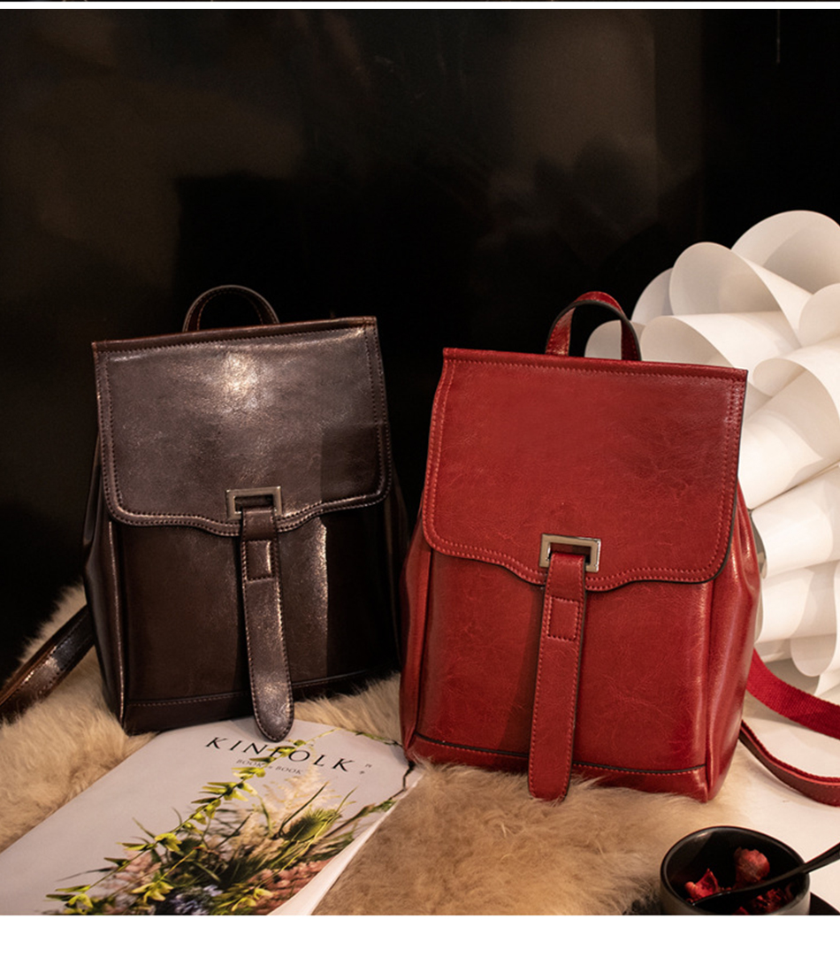 fashion women backpack high quality leather