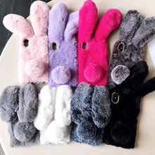 For iphone 11 Pro Max 5 5S SE Hairy Cute Rabbit Animal Phone