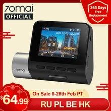 Mise à niveau 70mai Dash Cam Pro Plus A500S GPS intégré 70mai PLUS + voiture DVR avant arrière Cam 1944P coordonnées de vitesse ADAS 24H Parking