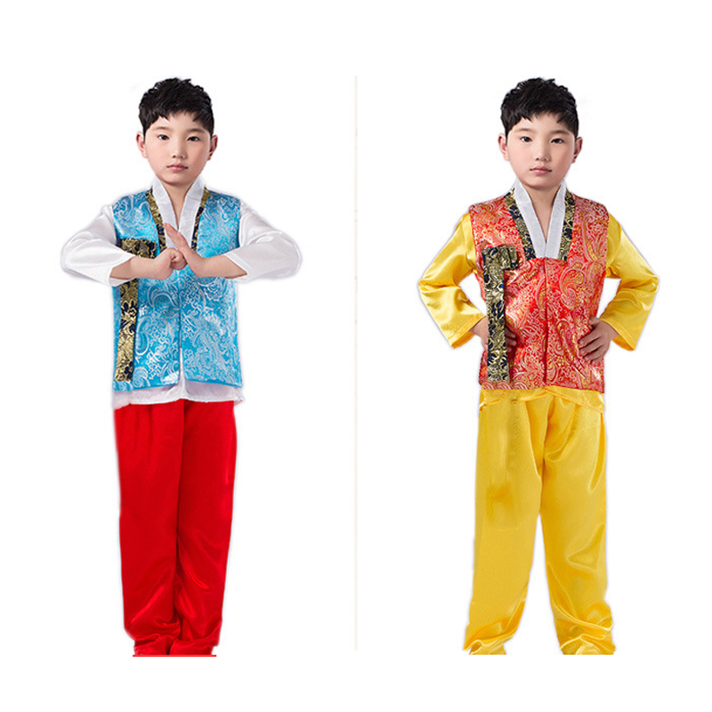 Korean Traditional Clothes Hanbok For Boys Children Embroidery Top New Year Gift Christmas Festival Outfit Longsleeve