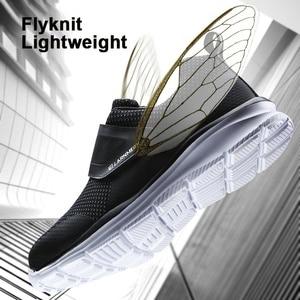 Image 3 - LARNMERN أحذية عمل الرجال الصلب أحذية سلامة بفتحة لأصبع القدم البناء واقية خفيفة الوزن للصدمات الأحذية هوك وحلقة أحذية رياضية السلامة