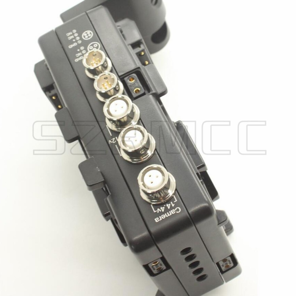 Movcam V-Mount Battery Plate 3 Pin Male 12V DC Output to XLR 4 Pin Female Power Cable for Camera Accessories Monitors