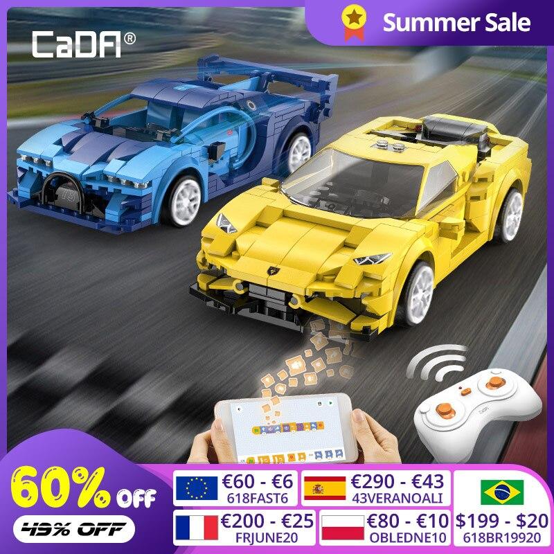 Cada City APP Programming Remote control Sports Car Model Building Blocks Technical RC Racing Car Bricks Gifts Toys for children