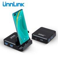 Unnlink HUB Dock Station di tipo C 4K USB 3.0 adattatore Docking di ricarica TF SD 15W compatibile HDMI per S9 S10 S20 P20 P30 P40 Pro Dex