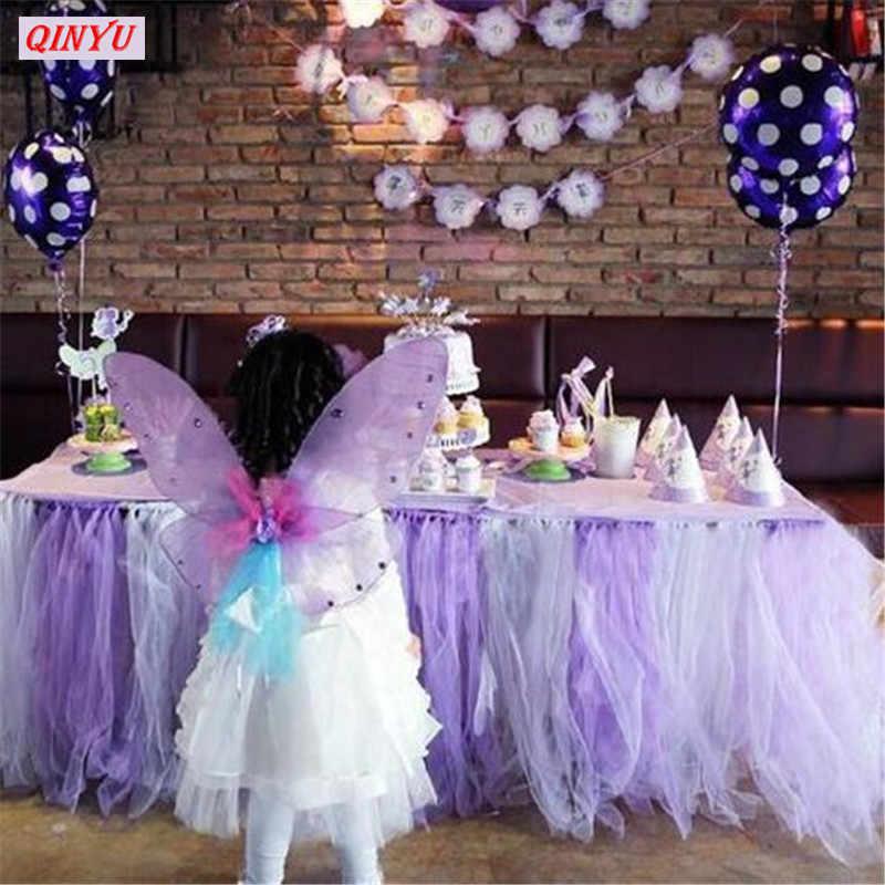 Promoción decoración de boda 15CM * 22M rollo de tul rollo de tela de tul Tutu falda evento festivo tul rollo de organza suministros 5Z