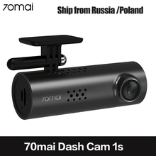 70mai רכב DVR WiFi APP אנגלית קול שליטה 70 מאי 1S 1080P HD ראיית לילה Xiaomi 70mai דאש מצלמת 1S רכב מצלמה וידאו מקליט