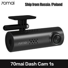 70mai carro dvr wifi app inglês controle de voz 70 mai 1s 1080p hd visão noturna xiaomi 70mai traço cam 1s câmera do carro gravador de vídeo