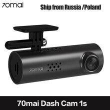 70mai voiture DVR WiFi APP anglais commande vocale 70 Mai 1S 1080P HD Vision nocturne Xiaomi 70mai Dash Cam 1S voiture caméra enregistreur vidéo