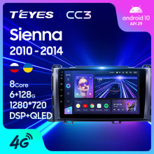 TEYES CC3 Für Toyota Sienna 3 XL30 2010 - 2014 Auto Radio Multimedia Video Player Navigation stereo GPS Android 10 keine 2din 2 din dvd