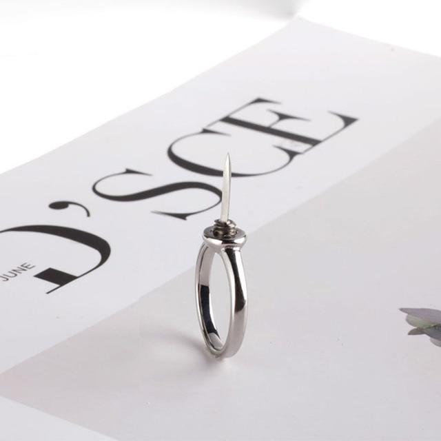 Anti-wolf ring artifact portable self-defense legal supplies Gold Star Midi Moon Rings Set For Women Opal Crystal Midi Finger Ri