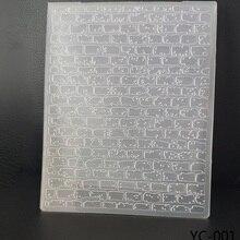 Стены фон стиль прозрачный тисненный лист DIY бумаги резки Скрапбукинг пластиковый с тиснением папка