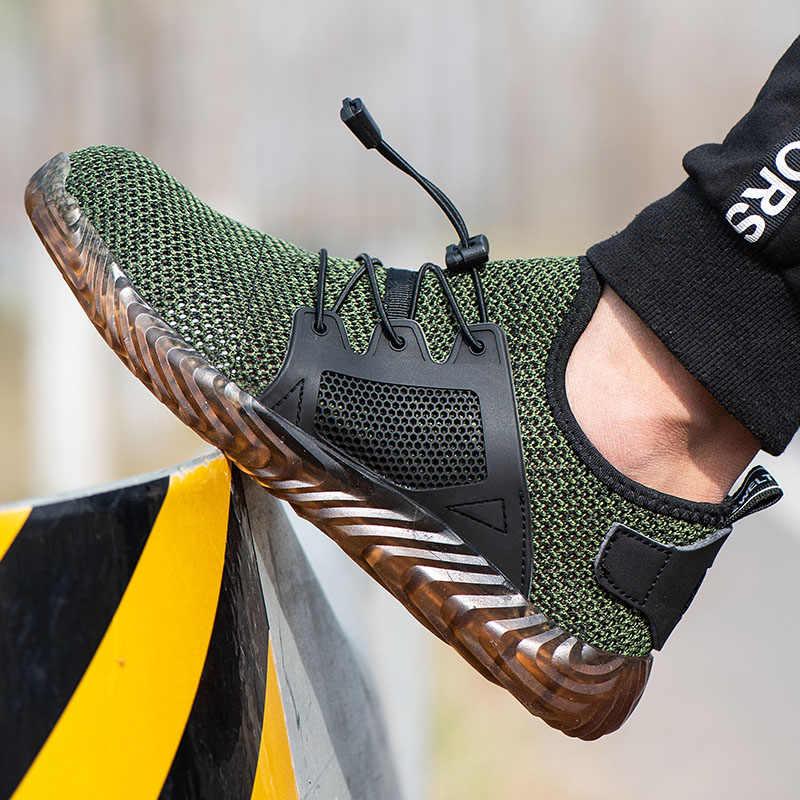 ドロップシッピング不滅ライダー靴男性と女性鋼つま先空気安全ブーツパンクプルーフ作業スニーカー通気性の靴
