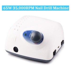 Image 2 - 65W 35000RPM elektryczna wiertła do paznokci wysokiej jakości Model rękojeść Manicure urządzenie do pedicure pilnik do paznokci Bit Nail Art Equipment
