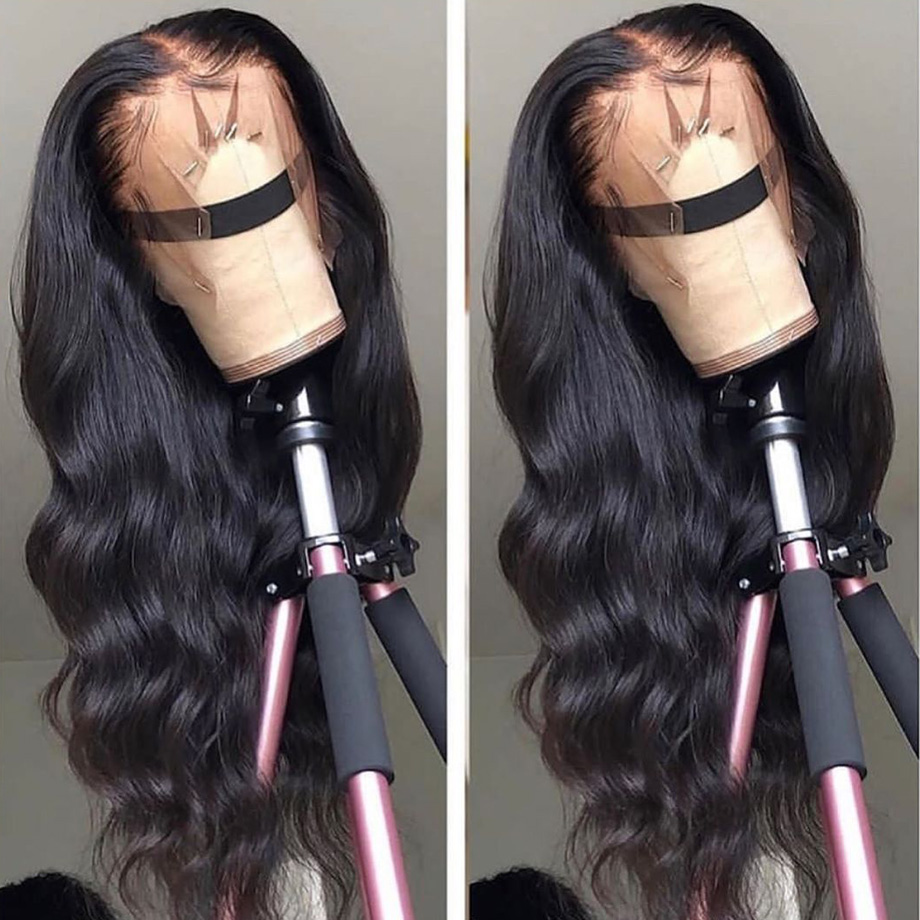 Body wave lace front human hair wigs for black women brazilian Lace Front wig preplucked with baby hair 13x4 130 density