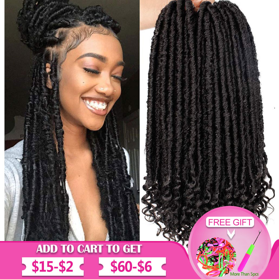 Goddess Faux Locs Crochet Hair Straight Goddess Locs With Curly Ends Synthetic Crochet Hair Braids For Black Women Smart Braid