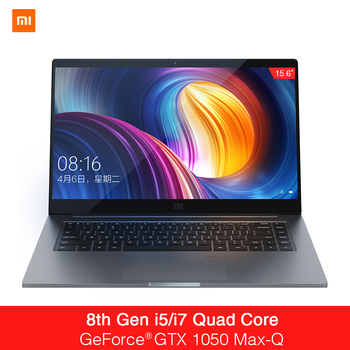 Xiaomi Mi Notebook Pro 15.6 Inch GTX 1050 Max-Q Intel Core i7 16G/i5 8G CPU NVIDIA 4GB GDDR5 Laptop Fingerprint Windows 10