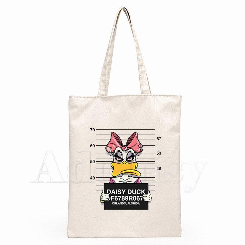 Mickey Mouse Funny Dog Handbags Hot Selling Fashion Handbag Canvas Bag Tote Ladies Casual Shoulder Bag Reusable Shopping Bags