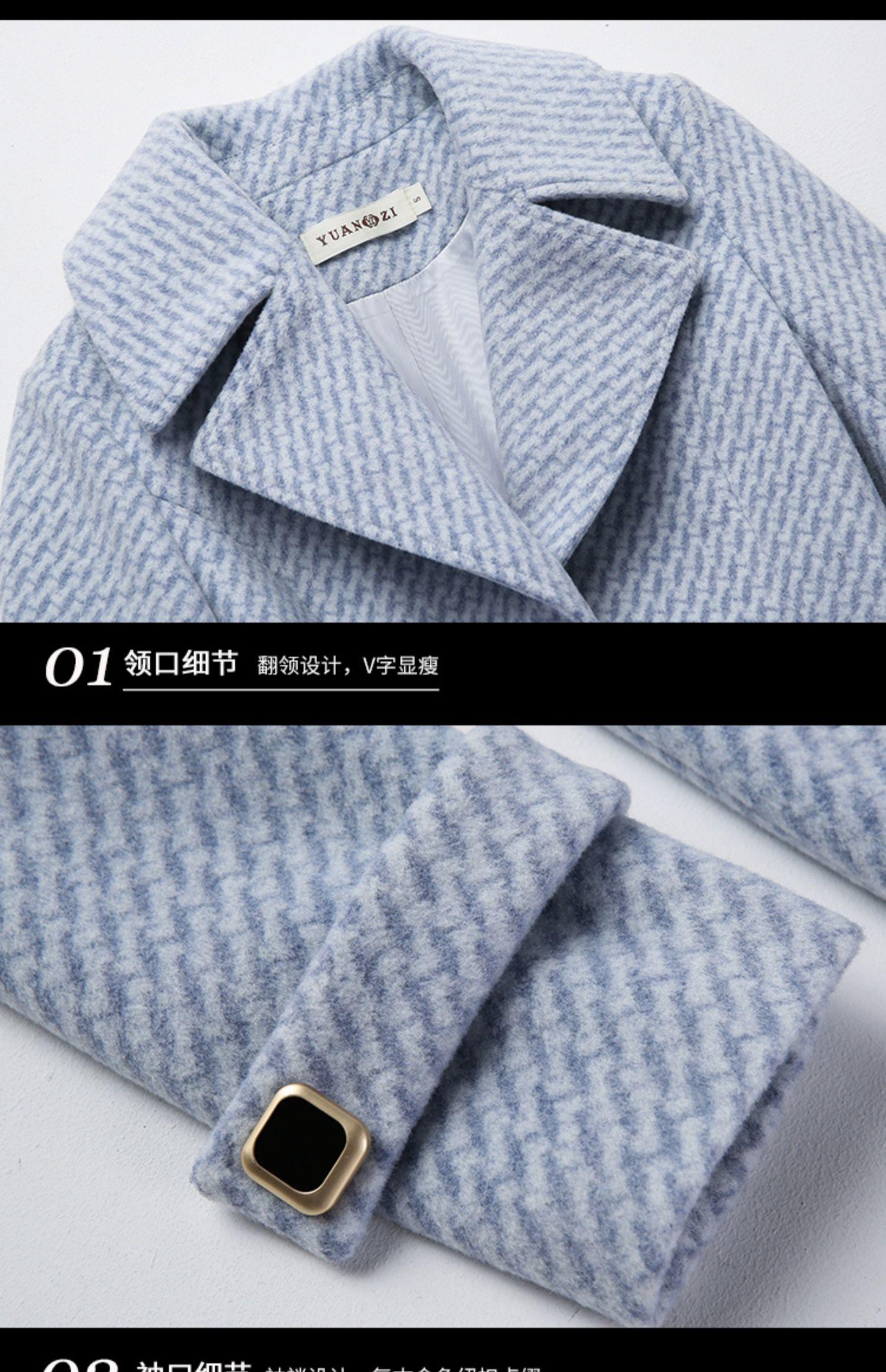 Novo casaco de lã de inverno das