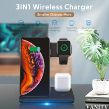 Robotcube 15W Fast Qi Wireless Charge Universal 3 in 1 Wireless Charger For Smart Watch Airpods Phone Stand Charging Station