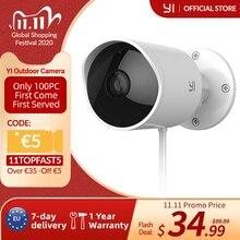 YI กล้องรักษาความปลอดภัยกลางแจ้งช่องเสียบการ์ด SD & Cloud IP CAM Wireless 1080p Night Vision กันน้ำกล้องรักษาความปลอดภัยการเฝ้าระวังระบบสีขาว