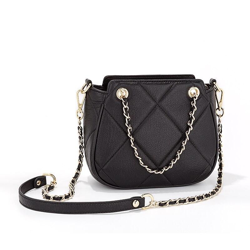 Newest Fashion Design Women Luxury Brand Crossbody Bag Chain Cow Leather Shoulder Bag Messenger Bag for Ladies Bolsa Sac Female