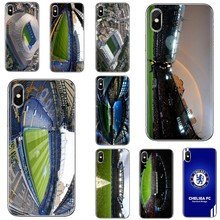 Stamford Bridge Stadium London For Huawei Honor Y5 2018 2019 8S 9X Pro 20 10 10i Lite Bling Silicone Phone Case(China)