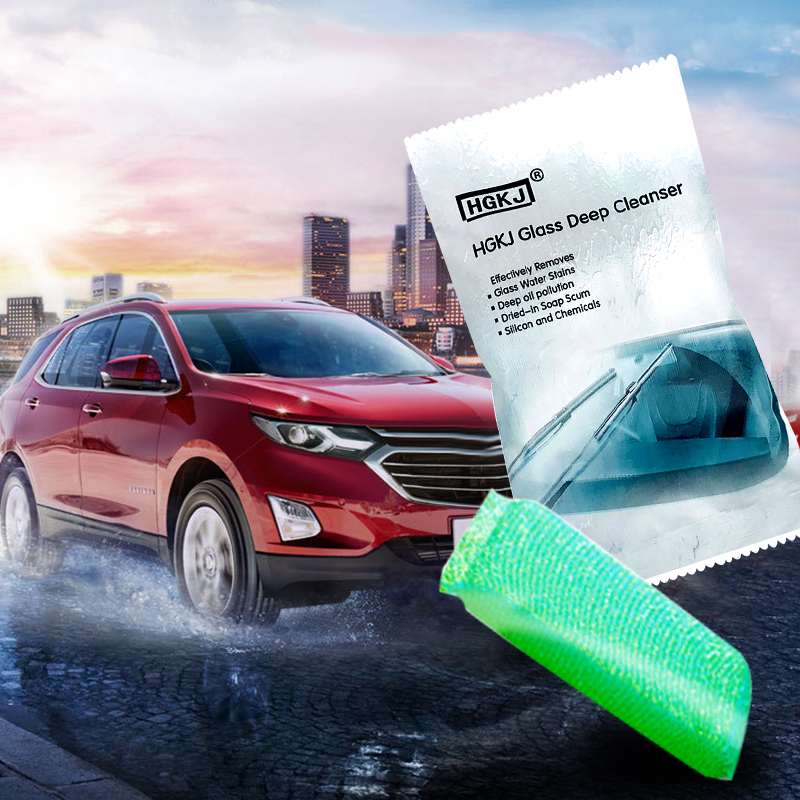 HGKJ Car Glass Deep Cleanser Car Scratch Remover Liquid Sponge Car Window Cleaning Sponge Windshield Remove Oil Film TSLM1