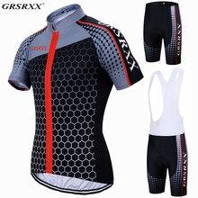 GRSRXX-Conjunto de ropa de ciclismo para hombre, prenda de Ciclismo de manga corta, Anti-UV, para equipo de carreras