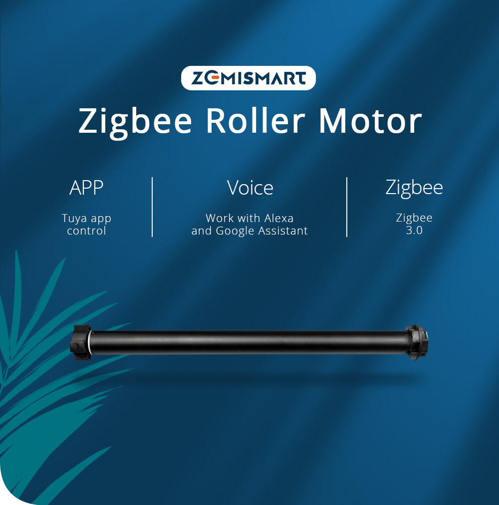 Zemismart Tuya Zigbee Roller Shade Motor for 38mm Tube Alexa Echo Google Home Smartthings Control Electric Engine Shutter Rod