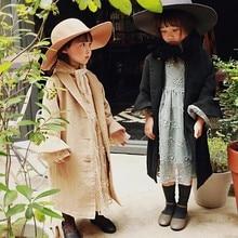 2019 autumn strawberry children's elegant British trench coat kids coat baby