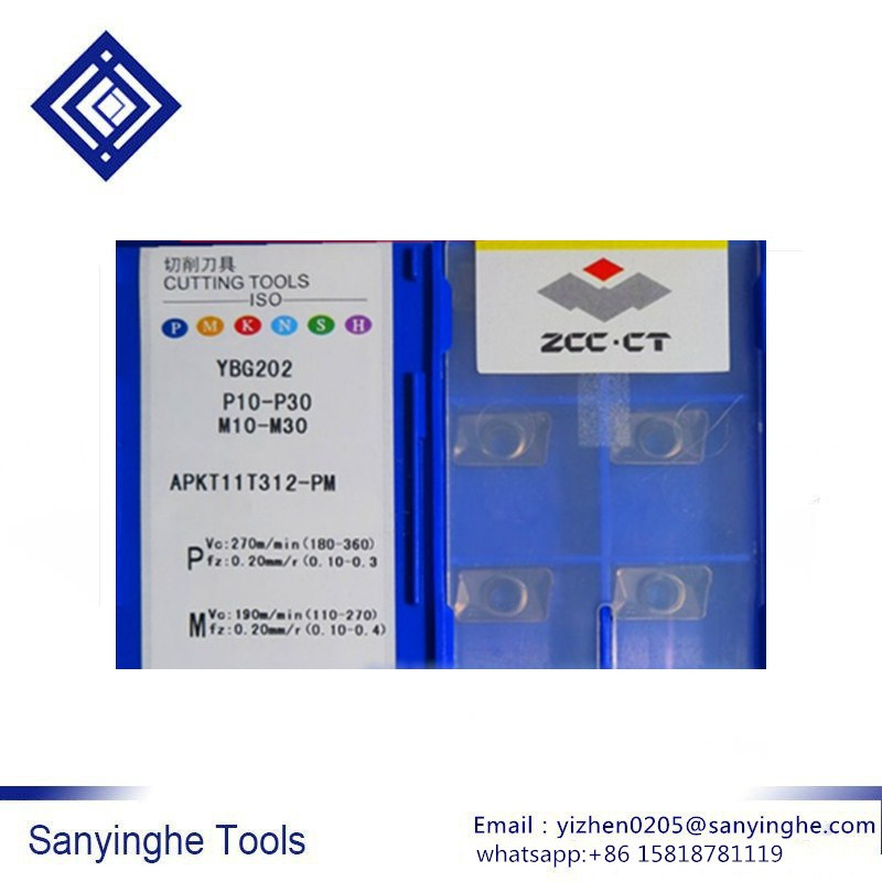 Original ZCCCT 10pcs/lots APKT11T304-PM APKT11T308-PM APKT11T312-PM YBG202 YBG302 Cnc Carbide Milling Insert