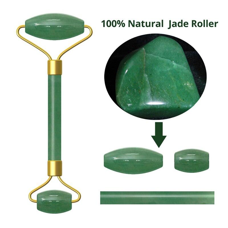 Ролик из натурального камня розового кварца для похудения, массажер для лица, инструмент для лифтинга, аметист, Нефритовый ролик, ролик для лица, уход за кожей