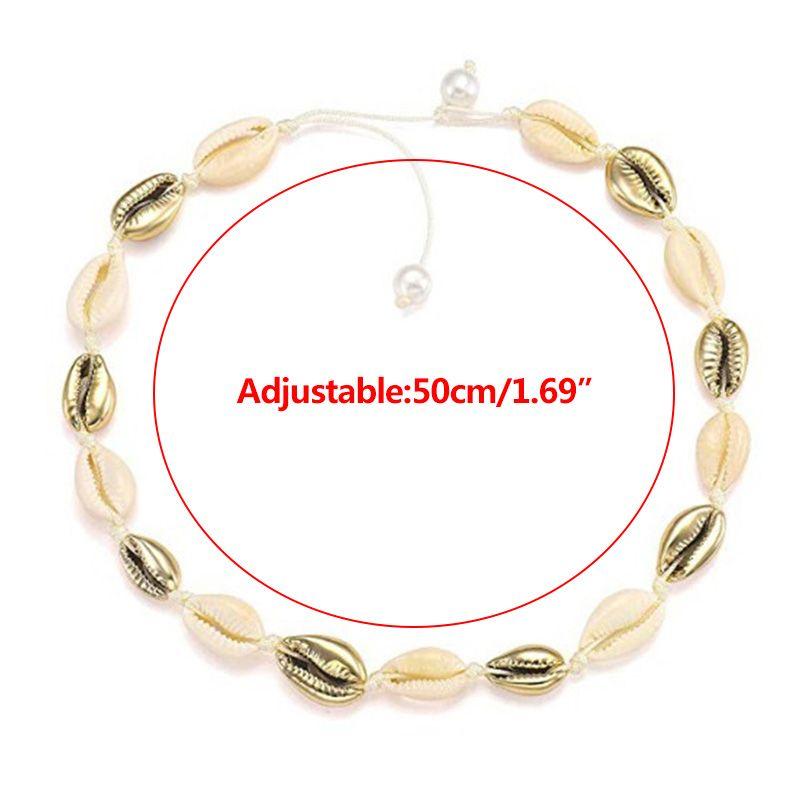 Экологически чистое ожерелье с искусственным жемчугом из натуральной раковины, модное простое ожерелье ручной работы для женщин и девочек,... - 4