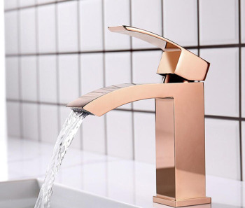 Brass Bathroom basin Faucet Basin High rose gold Single Handle Hot and Cold Water Mixer Tap BL980