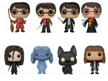 Funko POP Harri Potter with hedwig Moaning Myrtle Draco Malfoy Hermione Granger Action Toy Figures Collection Model Toy gifts