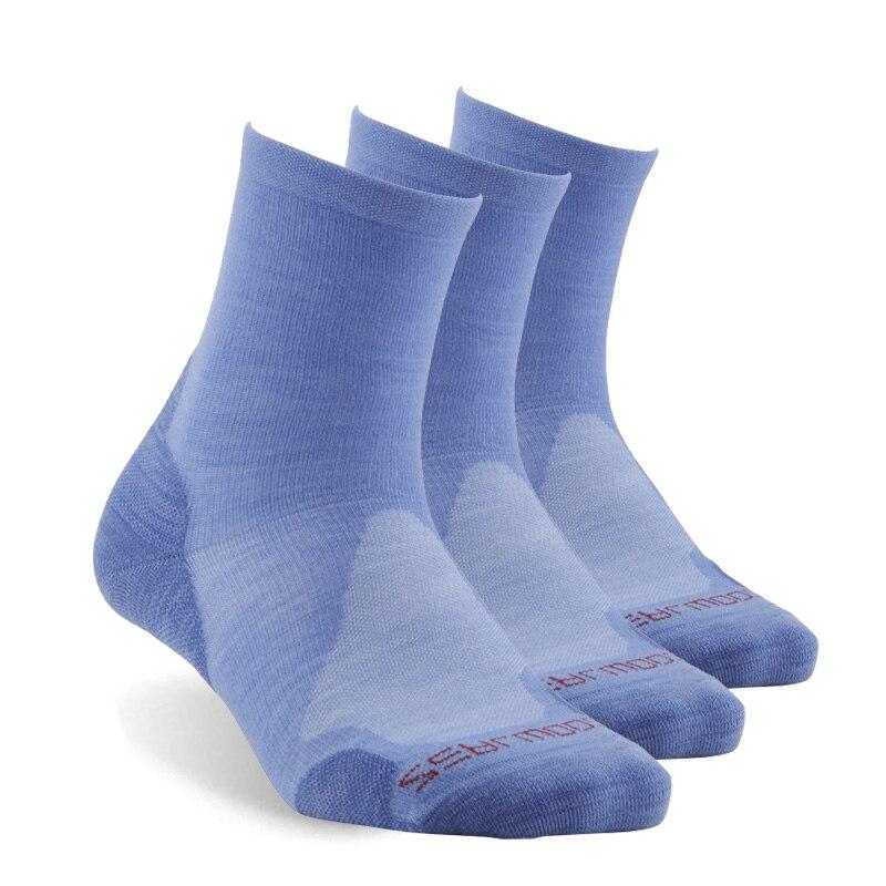 Hiking Socks, ZEALWOOD Unisex Merino Wool Outdoors Sports Socks Cushion Crew Athletic Socks
