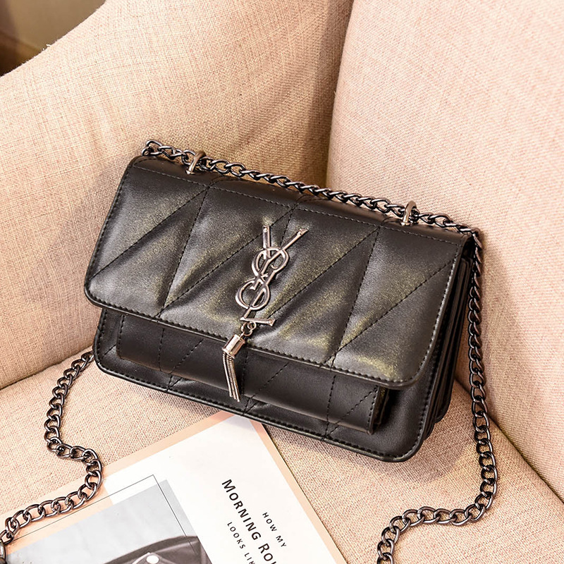 2020 New Ladies Shoulder Bags Branded Women's Bags High Quality PU Korean Women's Lingge Bags Chain Bags Small Square Bags