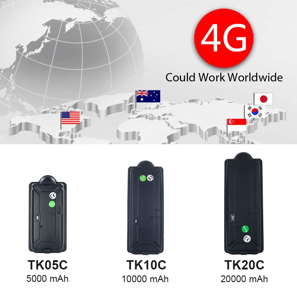 4G GPS Tracker with big battery