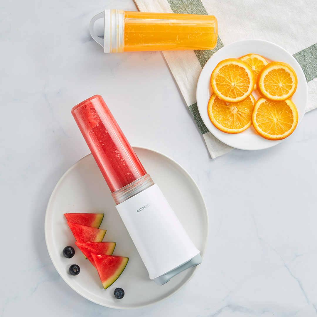 Xiaomi портативная Соковыжималка Блендер 280 мл Joicer чашка Многофункциональный миксер для фруктов 4-Лопастной тестомесильная машина для оранжевый лимон арбуз