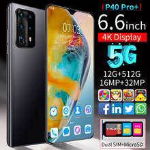 Teléfono Inteligente P40 Pro, versión Global, Pantalla Completa HD de 6,6 pulgadas, 5000mAh, 12 + 512GB, desbloqueo por huella dactilar, SIM Dual, 4G, 5G, móvil Android