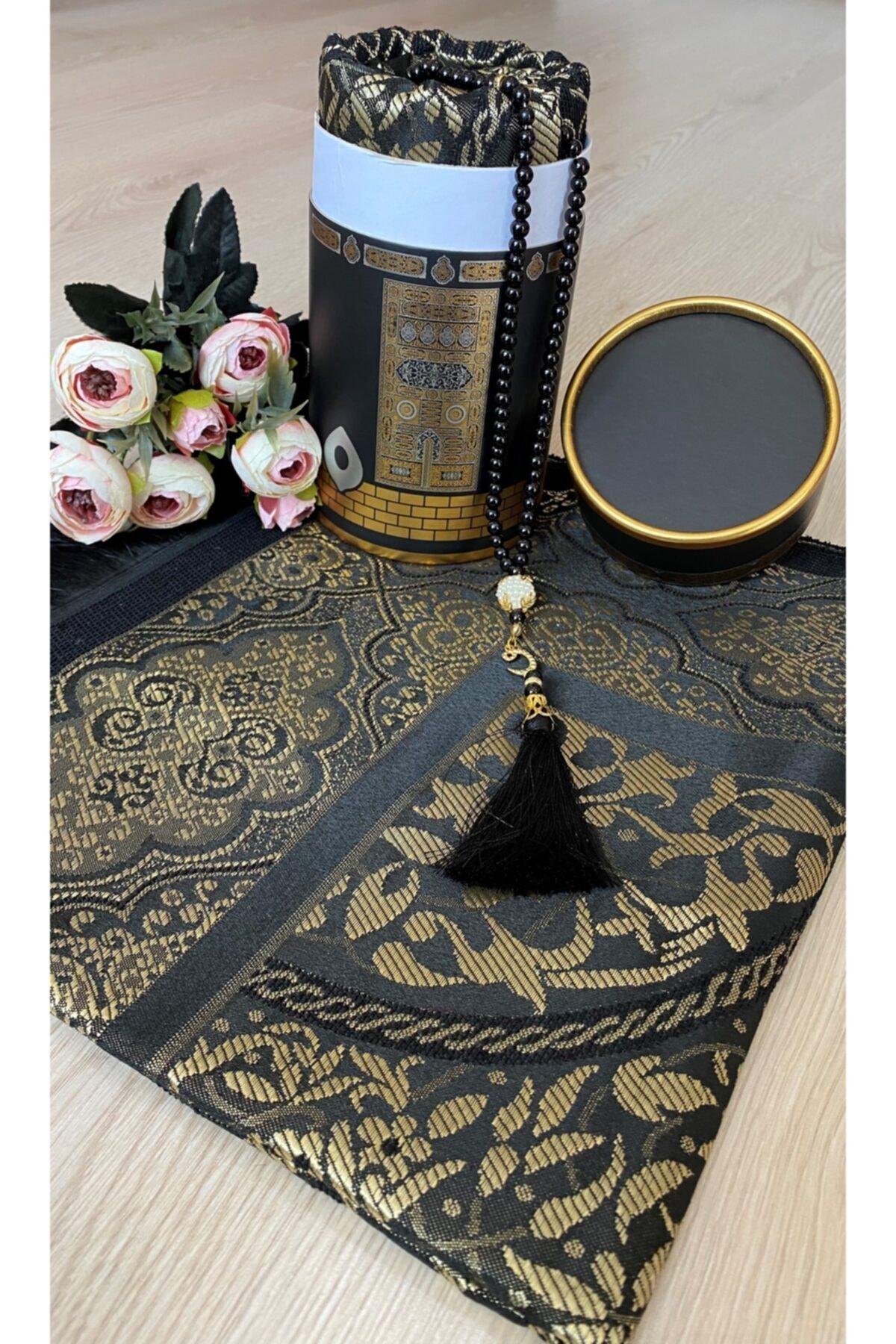 Kaba Pattern Boxed Prayer Rug Set
